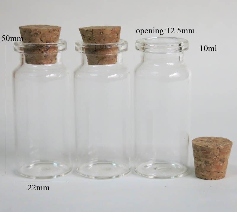 De Vidro Transparente com Cortiça De Madeira