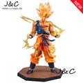 Envío Gratis Anime 17 CM Dragon Ball Z Super Saiyan Goku PVC Figura de Acción de Juguete de Colección 17 CM DBFG071
