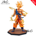 Free Shipping Anime 17CM Dragon Ball Z Super Saiyan Son Goku PVC Action Figure Collectible Toy 17CM DBFG071