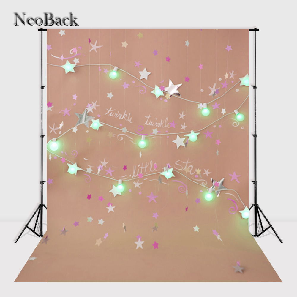 NeoBack Vinyl Cloth New Born Photography Backdrop Children Twinkle Star Birthday backdrops Printed Studio Photo background P2434