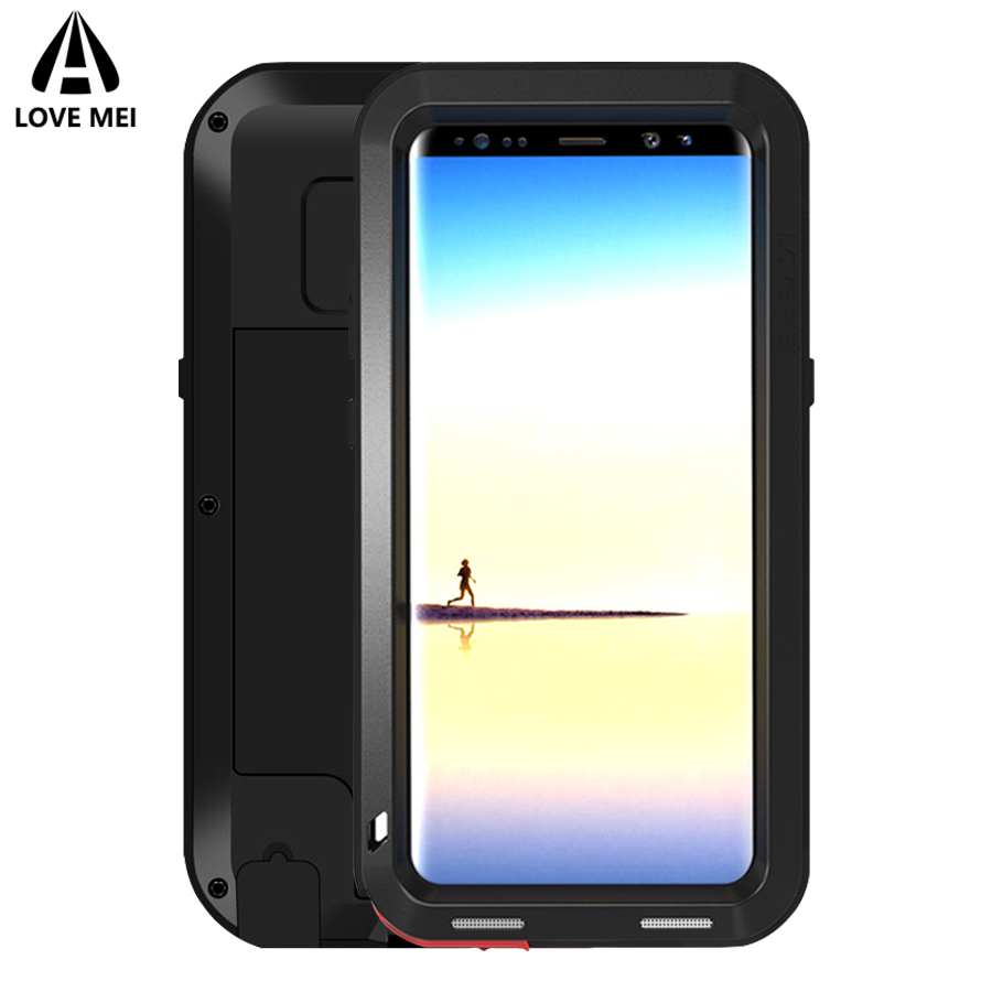 Love Mei Case For Samsung Galaxy Note 8 Note 7 Cover Powerful Metal Aluminum Armor Shockproof Case For Galaxy Note8 / Note7 Case