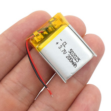 3.7V lithium polymer Rechargeable battery 502025 502025 200mah Replacement for MP3 MP4 GPS