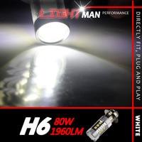 2x 80W 1960LM H6 Motor Bike Moped Scooter ATV Headlight Bulb High Power Cree Xenon White