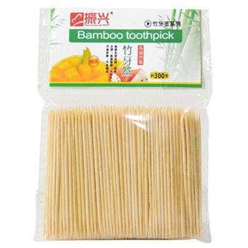 300 Bamboo Toothpicks Oral Wooden Tooth Pick Care image