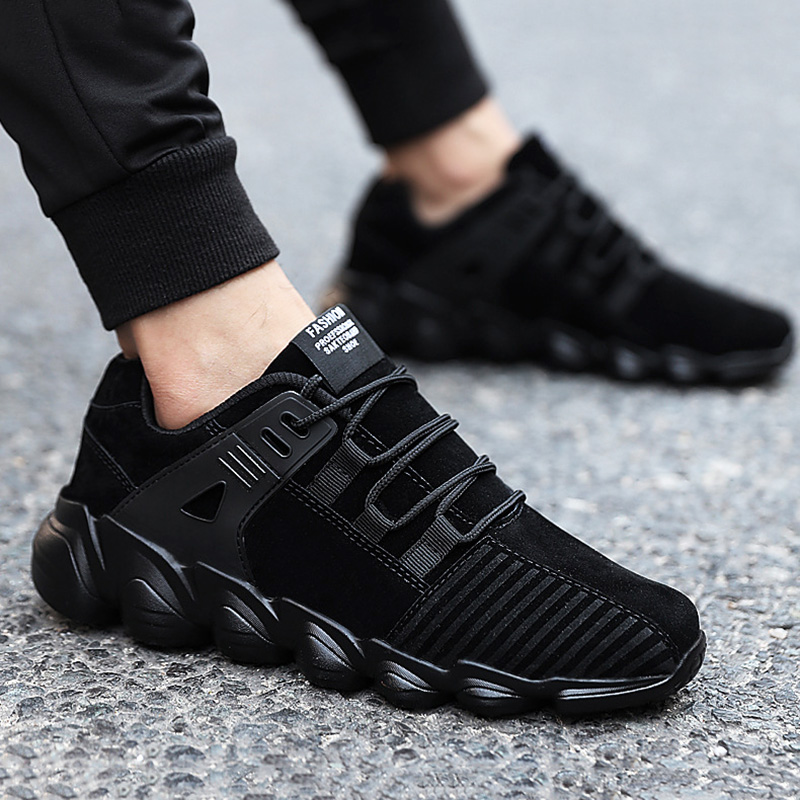 UPUPER Brand Suede Men's Sneakers Breathable Flat Casual Shoes Men Comfortable Outdoor Men's Shoes Lace-up Leisure Footwear
