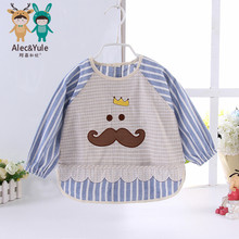 Baby gowns, autumn and winter baby child gowns, waterproof male female child 100% eat bib cotton