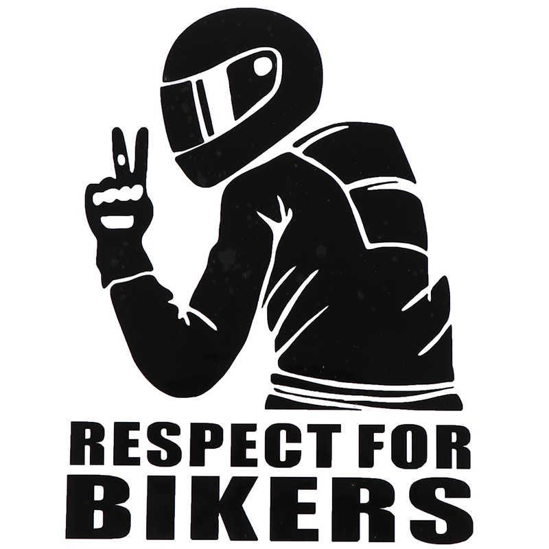 Adesivi per auto Stile Auto Moto Decorazione Rispetto per I Motociclisti Sticker su Auto Del Vinile Divertente 3D Adesivi e Decalcomanie