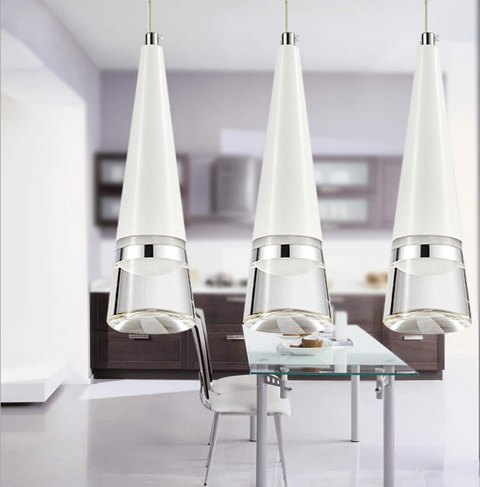 цена на modern brief fashion 1/3/4/5/6 heads acryl aluminum led pendant light for dining room living room AC 80-265V 1061