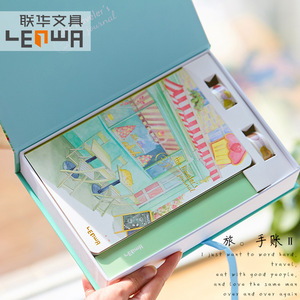 Image 5 - Korean A5 Notebook Set Kawaii Cute Planner Organizer Dokibook Personal Travel Diary Journal Note Books + 6 Colored Pens and Tape