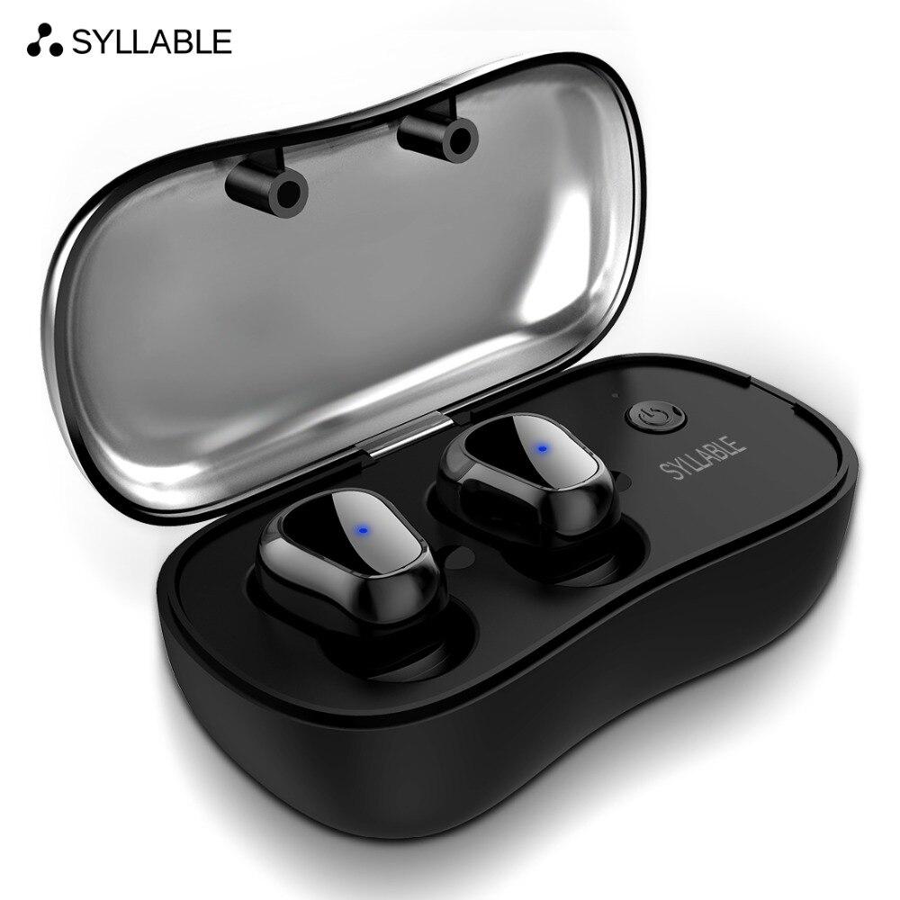 Sílaba D900P TWS Bluetooth V5.0 auricular para teléfono HD comunicación verdadera PORTÁTIL ESTÉREO inalámbrico auricular impermeable
