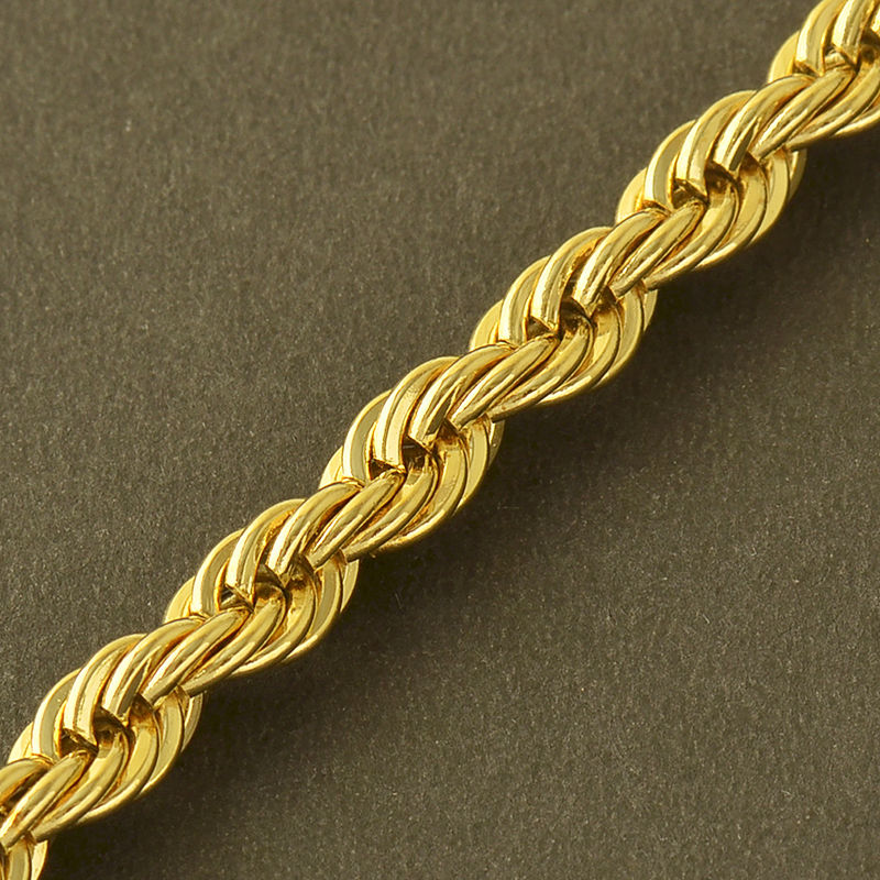 Gold-Stainless-Steel-Mens-Womens-Punk-Rope-Chain-_57