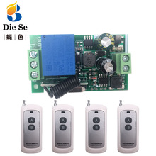 433MHz Universal Remote Control AC 220V 10A 1CH rf Relay Receiver and Transmitter for Electric curtain and garage door Control wireless z wave 1ch gate garage door remote control switch ac 110v 220v 10a rf 2 transmitter and 10 receiver sku 5458