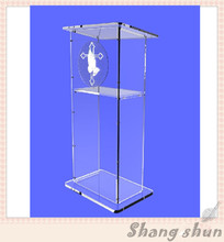 Plexiglass modern lectern stand church lectern modern design acrylic church lectern