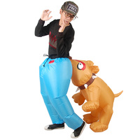 Halloween Carnival Costume Dog Bite Ass Inflatable Costumes Funny Party Dress Animal Mascot Cosply Christmas Costume for Adult