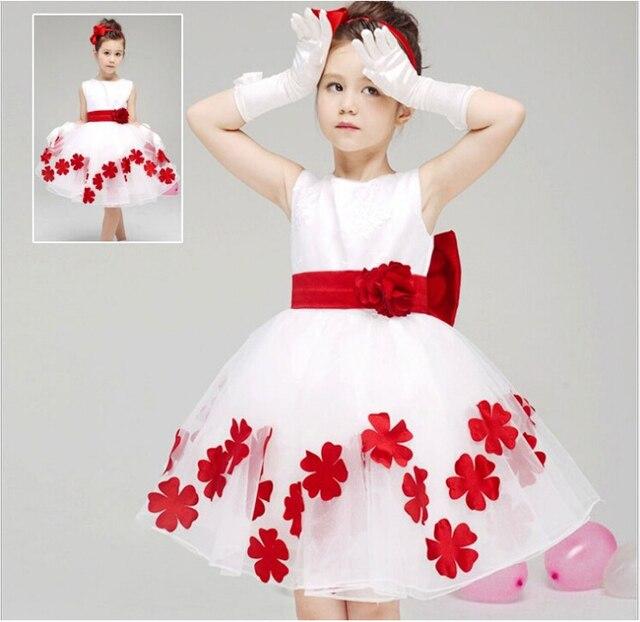 Kinder hochzeit abendkleider kinder sommer mode weißes kleid whith ...