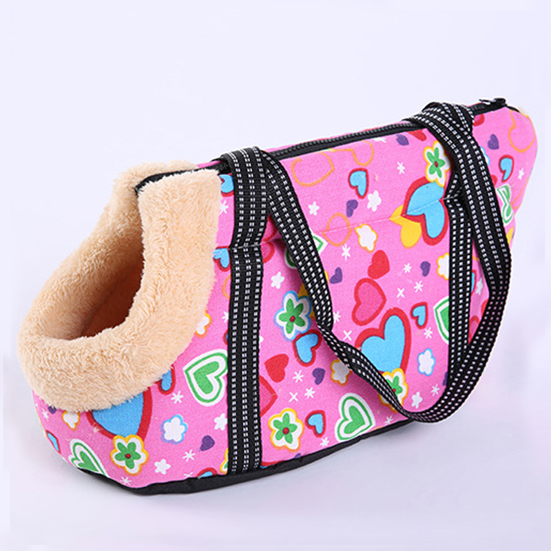 Cartoon Arctic Velvet Dog Bag Cozy & Soft Canvas Burr Pet Carrier Dog Handbag Outdoor Colorful Cat Bags Pet Products Chihuahua #4
