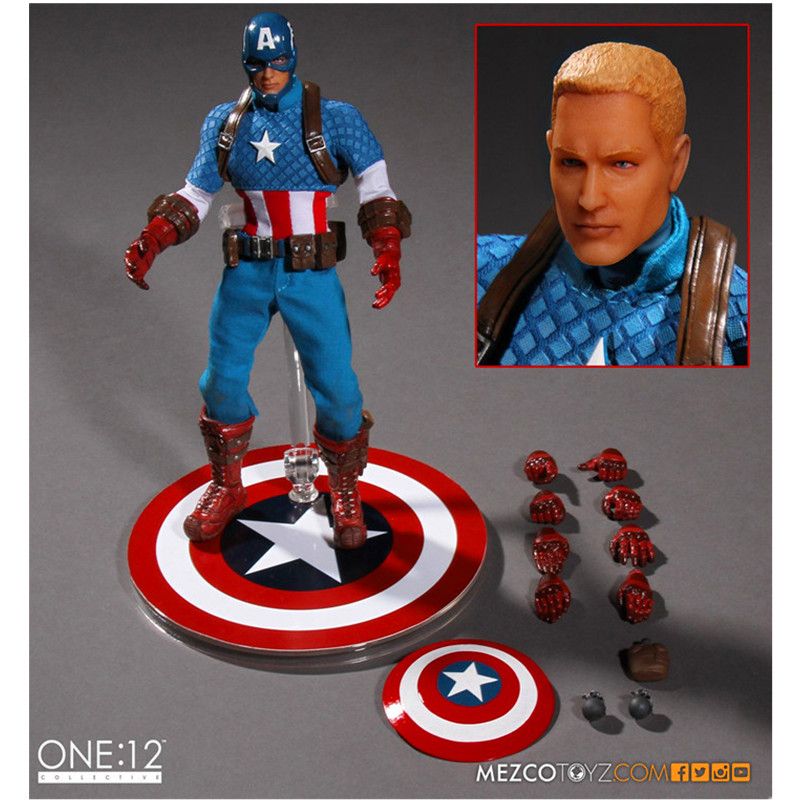 Justice League Captain America 6 inch of cloth clothes PVC Action Figure Collectible Model Toy  About 16CM Justice League Captain America 6 inch of cloth clothes PVC Action Figure Collectible Model Toy  About 16CM
