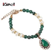Kinel Original Design Vintage Natural Stone Bracelet For Women New Bead Pearl Charms Wrap Bracelets 2019 Femme Fashion Jewelry