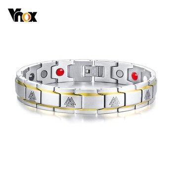 1aa191e94ee9 Vnox Runa de Viking magnético pulseras para Mujeres Hombres de acero  inoxidable tratamiento de curación de la mitología nórdica amuleto Pulseira