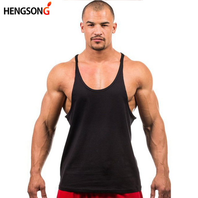 4c9dab864a2 Bodybuilding Brand Tank Top Men Stringer Tank Top Fitness Singlet Sleeveless  Shirt Workout Man Undershirt Clothing