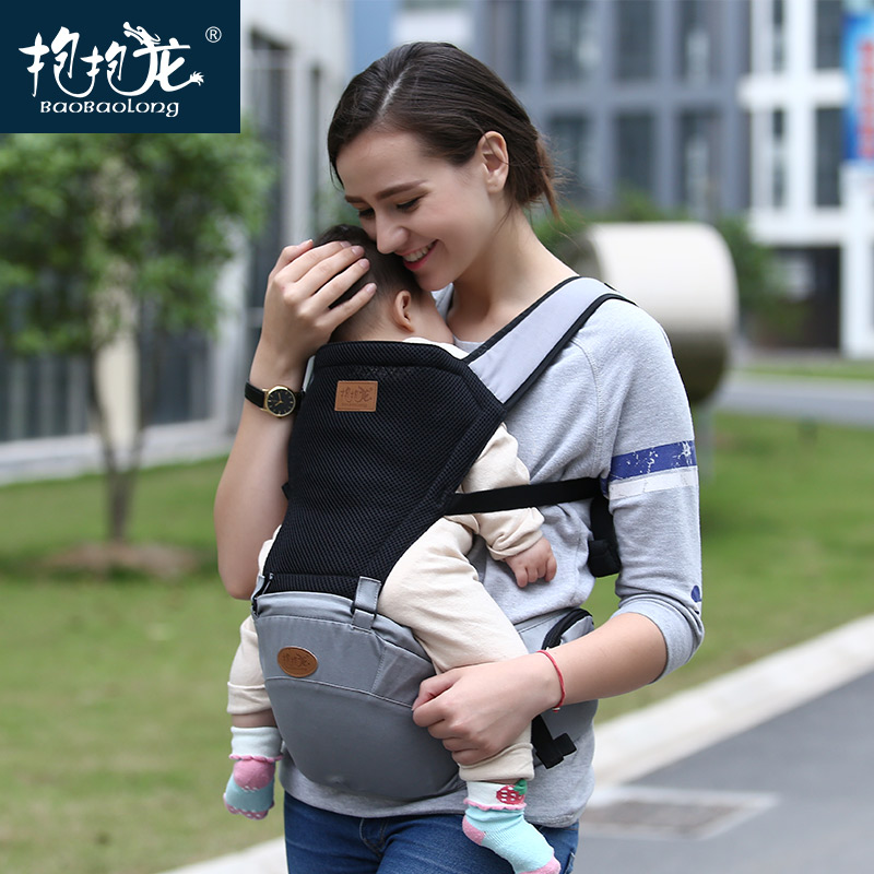 купить Baobaolong 2017 New Design Baby Carrier Hipseat Baby Stool Breathable Backpacks Cotton Sling Wrap Baby Carrier Front Backpack недорого