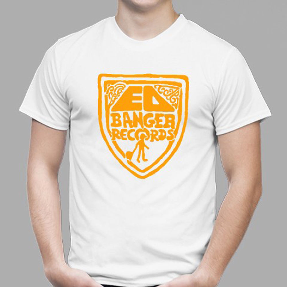 New Ed Banger Records Logo Electronic Music Mens White T-Shirt Size S to 3XL