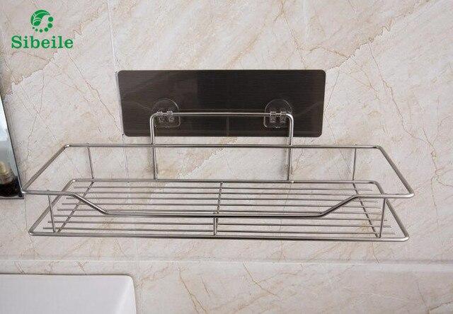Porta Spugne Da Bagno : Lavello in acciaio inox sucker organizer mensola a muro bagno