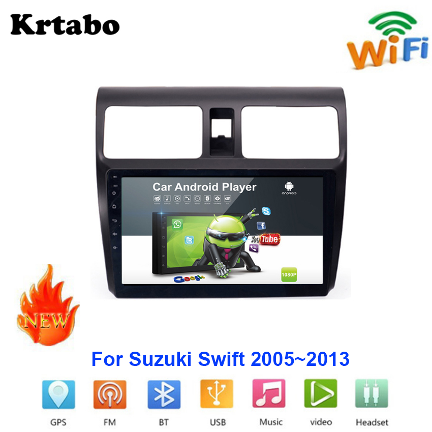 Car radio Android multimedia player For <font><b>Suzuki</b></font> <font><b>Swift</b></font> <font><b>2005</b></font>~2013 Car touch screen GPS Navigation Support Carplay Bluetooth image