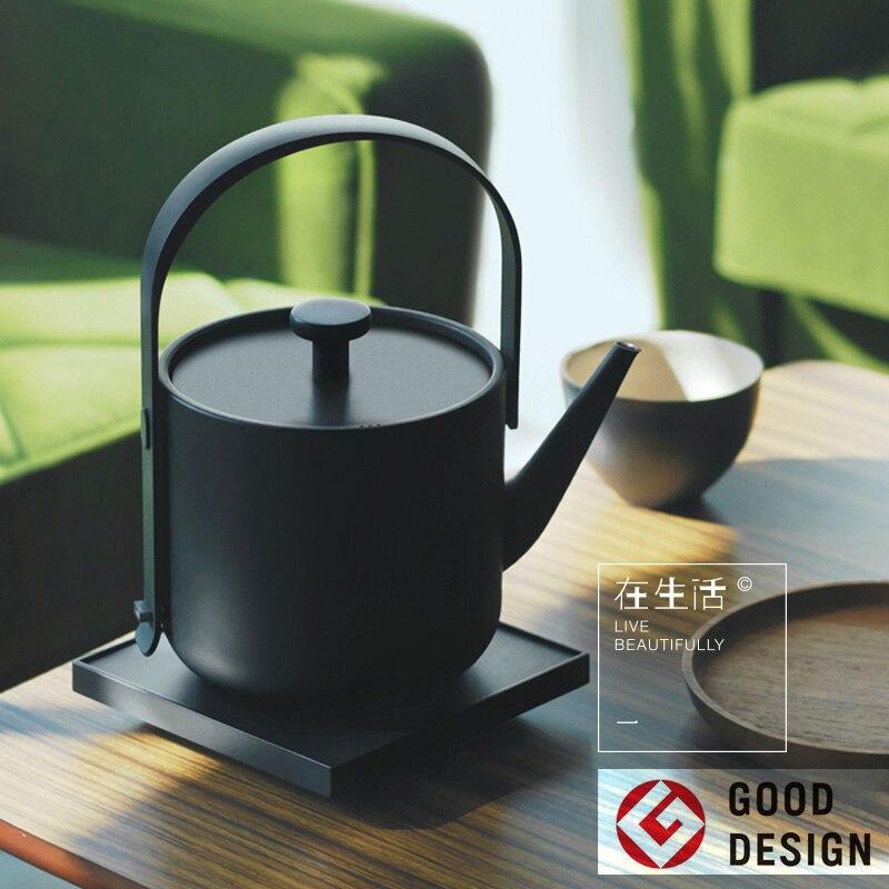 Электрический чайник для воды, креативный дизайн, специальный чайник для закипания, нержавеющая сталь 304, мини чайник для воды, керамика