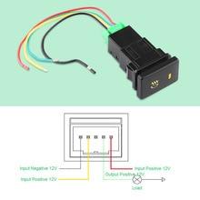 Автомобильный противотуманный светильник, переключатель управления, противотуманный светильник, кнопка включения-выключения для Toyota Camry/Yaris/Highlander/Prius/Corolla DC 12 В 4 провода