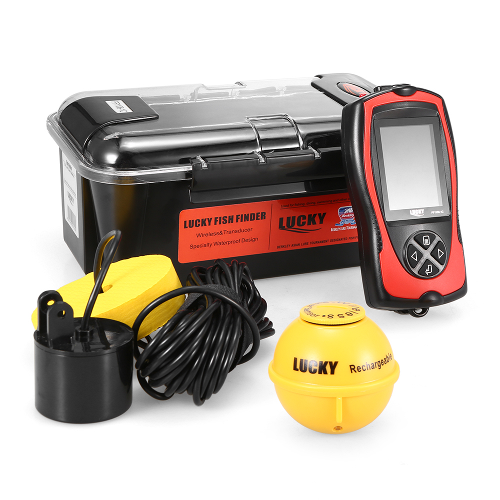LUCKY FF1108 1CT Portable Fish Finder 2 4 LCD 100M 300FT Depth Fish Alarm Wired Fish
