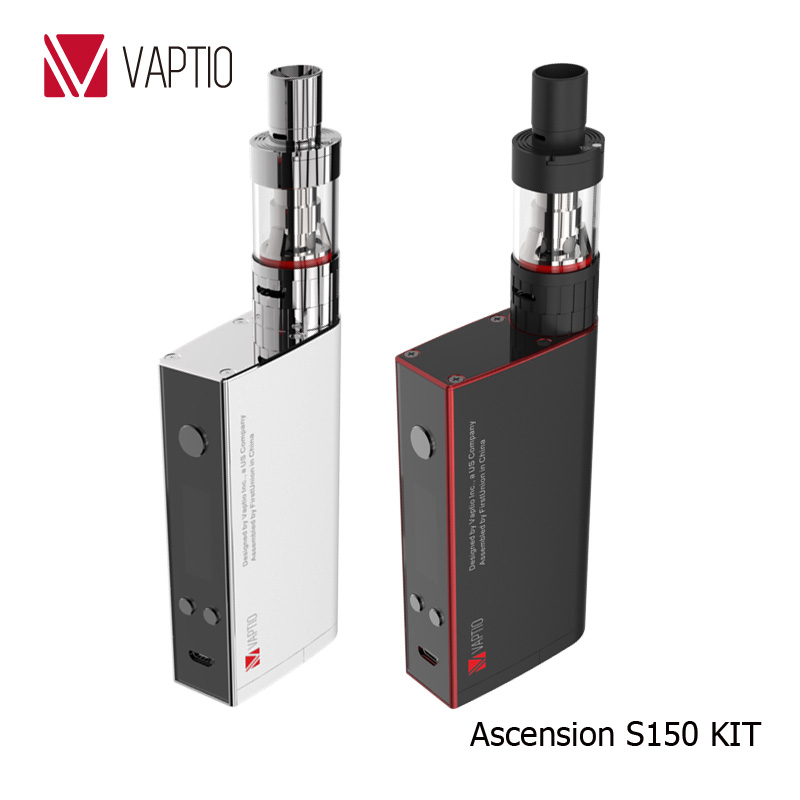 Gift Vape KIT 150W Electronic Cigarette Vaptio S150 KIT 3.0ml vapor Atomizer Dual 18650 batteries External ATC Coils head 0.4ohm
