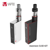 Vape KIT Vaptio S150 150w KIT Electronic Cigarette 3.0ml Atomizer VW/VT Ni/Ti/SS/ATC vape 0.91'' OLED Screen ATC II Coil 0.4ohm