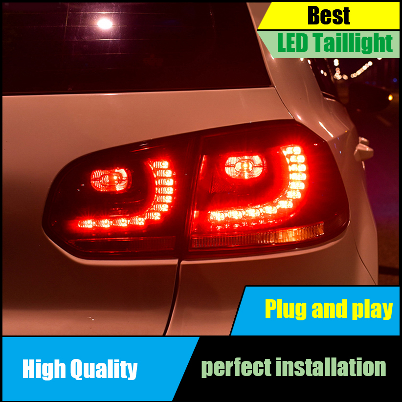 Car Styling for VW GOLF 6 MK6 GOLF6 R20 2009-2013 TAIL Lights LED Taillight LED Rear Lamp Brake+Reversing+Signal LIGHT assembly for great wall pickup truck wingle 6 tail lamp assembly rear lights assembly