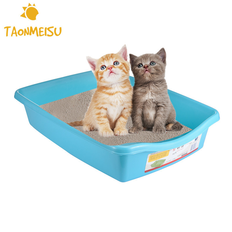 Blue Flat Bottom Pet Cat Litter Trays Smooth  Pet Toilet Training Wc Animal Toilet Restroom Tray Toilet