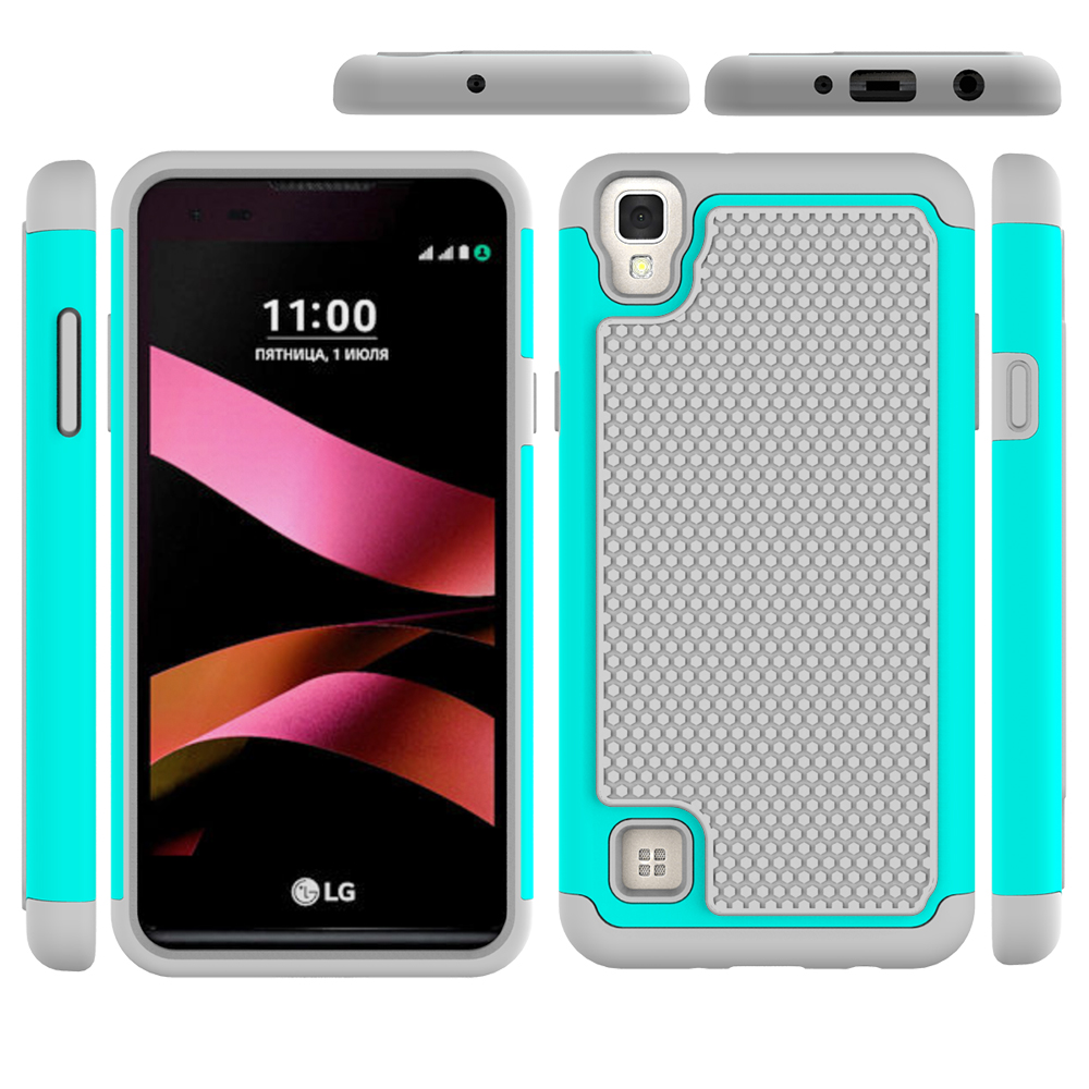 For LG X style Armor case ,Rugged Impact Hybrid heavy duty