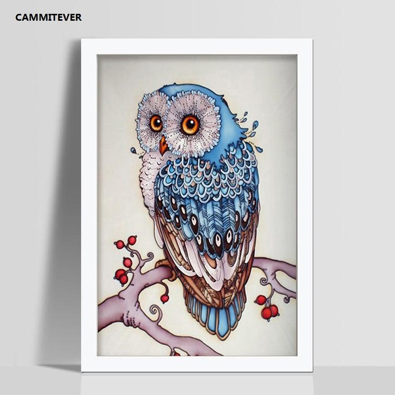 CAMMITEVER Diamond Painting Owl Drill Shiny DIY 5D Beaded Full Drill - ხელოვნება, რეწვა და კერვა - ფოტო 3