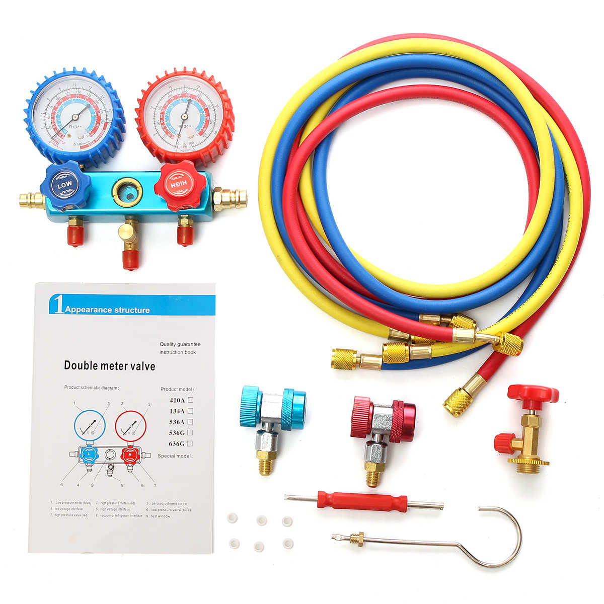 hight resolution of  r134a hvac a c refrigeration kit ac manifold gauge set auto service kit car air