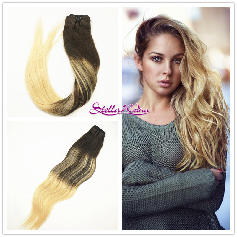 Balayage Brazilian Ombre burgundy PU Tape in Silky Remy Human Hair Extensions