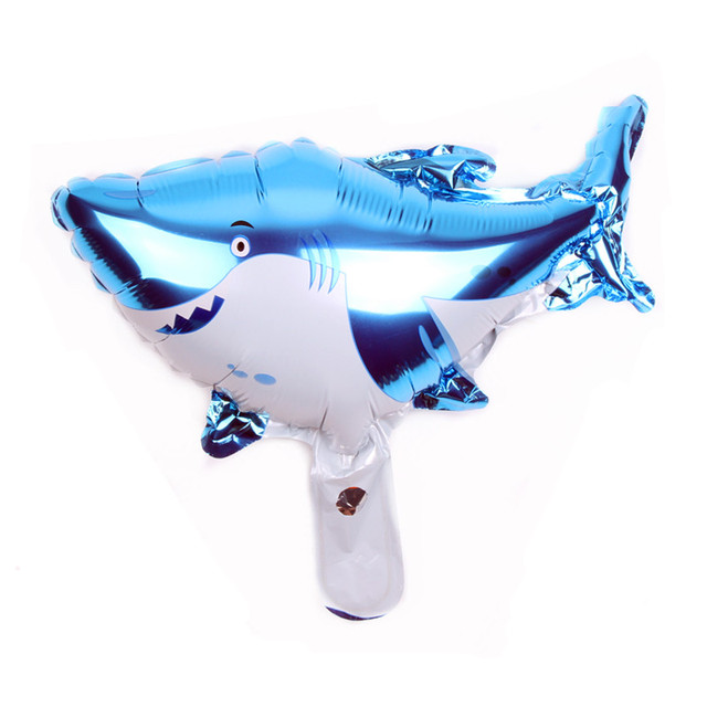 XXPWJ Free shipping new mini shark aluminum balloon ball baby birthday party layout decoration balloon wholesale B-115