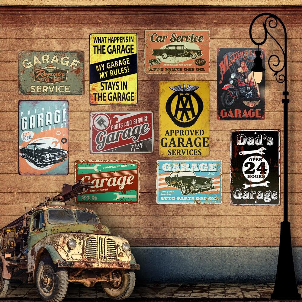 Servicio De Garaje Mis Herramientas Mi Garaje Vintage Metal Sign