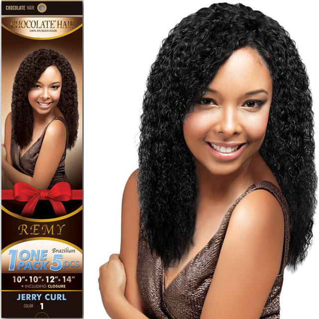 10packs Evertress Chocolate Jerry Curl One Pack 5pcs 10101214