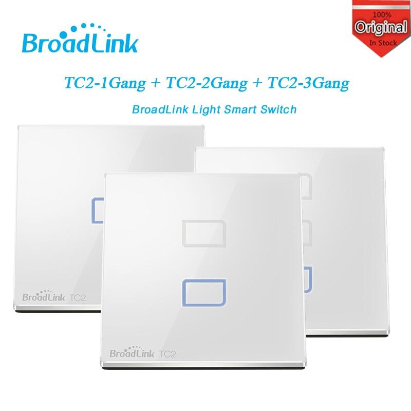 imágenes para Broadlink tc2 estándar de la ue 1 2 3 gang opcional, control remoto móvil lámparas de luz de interruptor de pared a través de broadlink rm2 rm pro, casa inteligente domotica