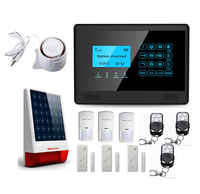 Wolf-Guard kablosuz LCD GSM SMS ev Alarm güvenlik hırsız sistemi güneş Siren PIR hareket dedektörü kapı boşluk sensörü uzaktan m2BX
