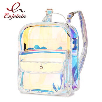 High Quality Hologram Women Backpacks PVC Laser School For Teenagers Girls Travel Shoulder Bag Waterproof bag