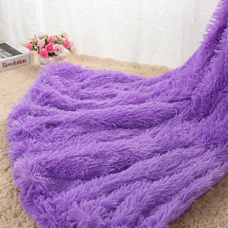 Sofá/aire/ropa de cama Mantas blancas Rosa gris vellón mullido felpa colcha Couverture Polaire Plaid Drop Shipping