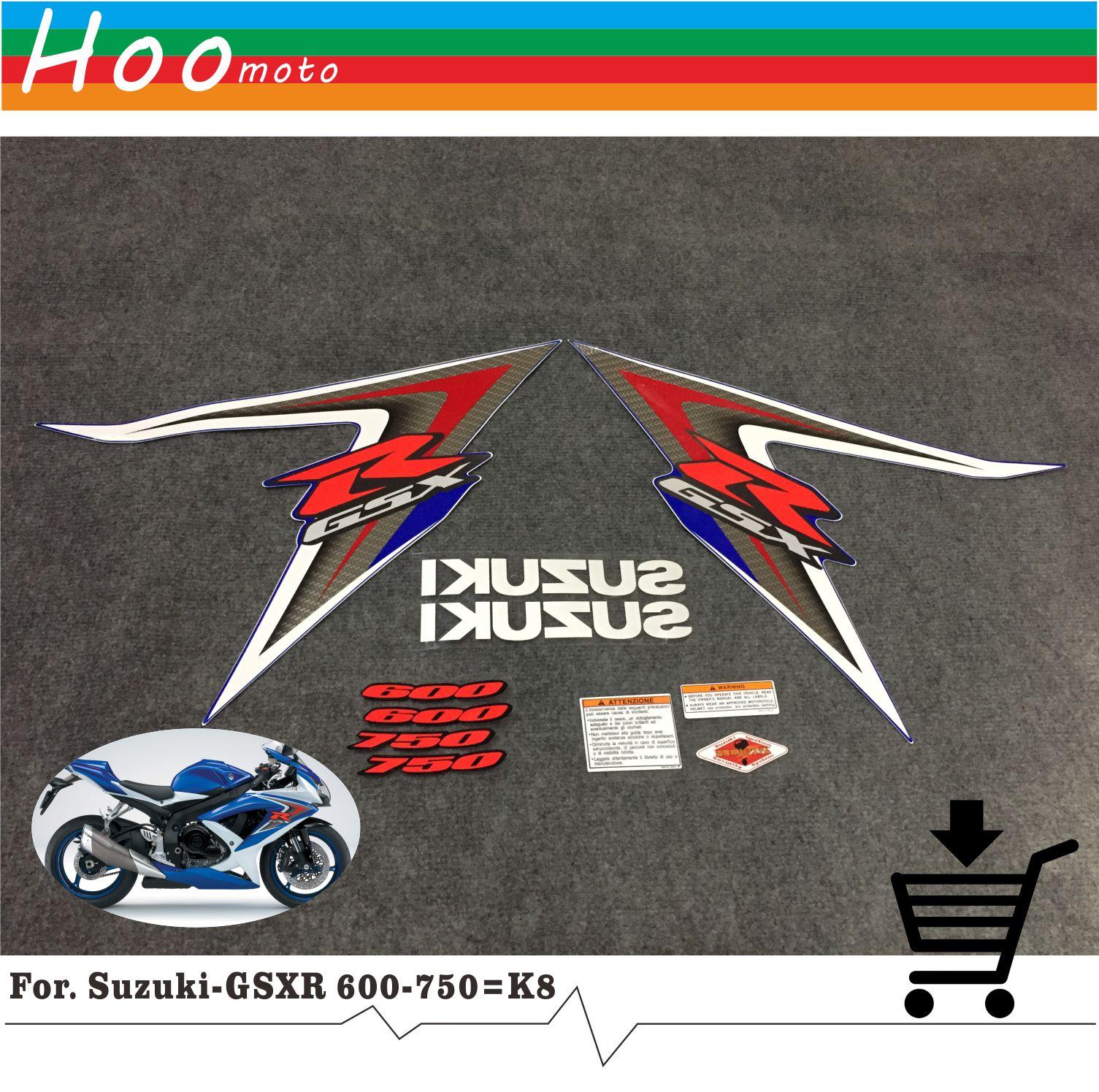 GSXR GSX-R GSX R 600 750 K8 2008 Высокое качество наклейки Стикеры мотоциклетные автомобиль-Стайлинг Стикеры s для Suzuki наклейки стикеры MOTO