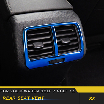 For Volkswagen Golf 7 Golf 7.5 Car Styling Rear Seat A/C Vent Outlet Panel Cover Trim Frame Sticker Interior Accessorie