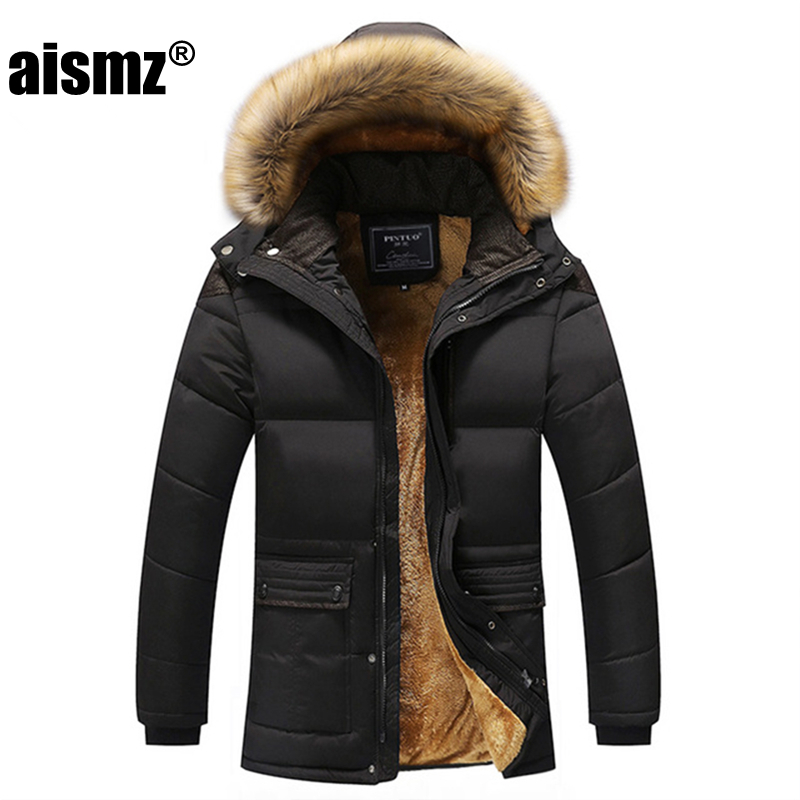 Aismz New Winter Men Down & Parkas Cotton-padded Jackets Men' S Casual Down Jackets Thicken Coats OverCoat Warm Clothing Big 5XL