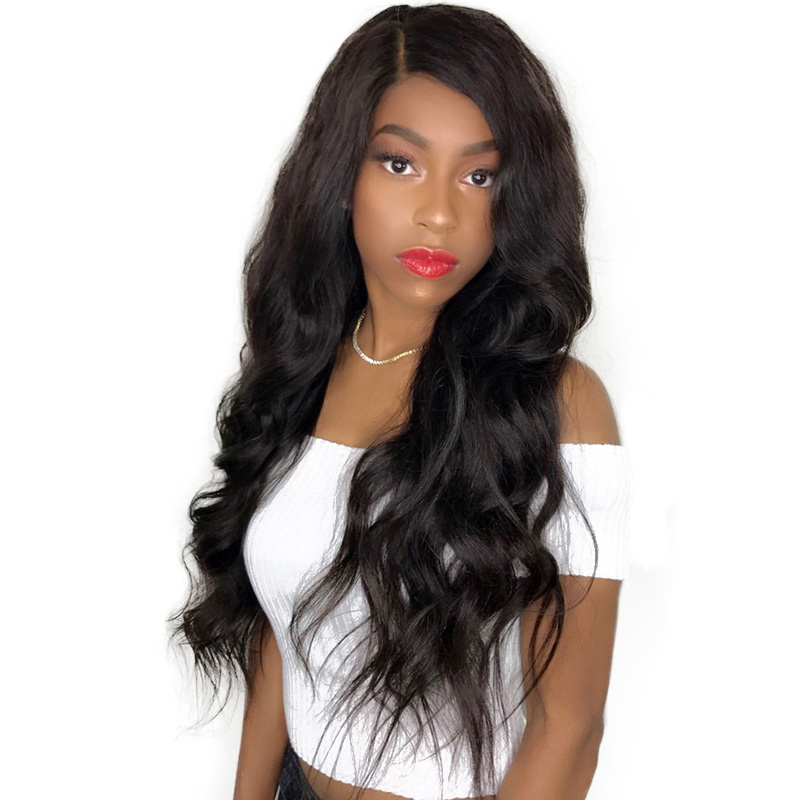 CARA Body Wave 250% Density Lace Front Human Hair Wigs Brazilian Remy Hair Pre Plucked Natural Hairline With Baby Hair